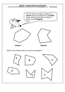 Concave and Complex 2-D Shapes Worksheet