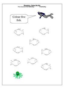 Reception: Colour the Fish Worksheet