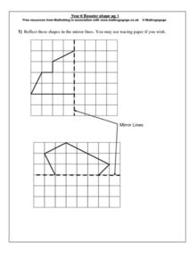 Year 6 Booster shape pg 1 Worksheet