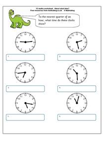 About What Time? Worksheet