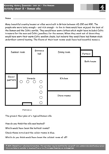 Roman Villa Worksheet