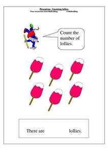 Count the Lollies Worksheet