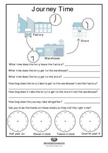 Journey Time Worksheet