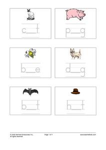 CVC Spelling Pattern- Fill in the Vowel Worksheet