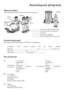 Borrowing and Giving Back Worksheet