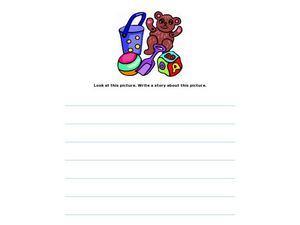 Writing Using a Visual Prompt: Toys Worksheet