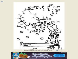 Farm Dot to Dot Puzzle Worksheet