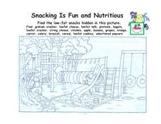 Snacking Is Fun and Nutritious Worksheet