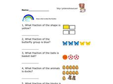 Pictures and Fractions Worksheet