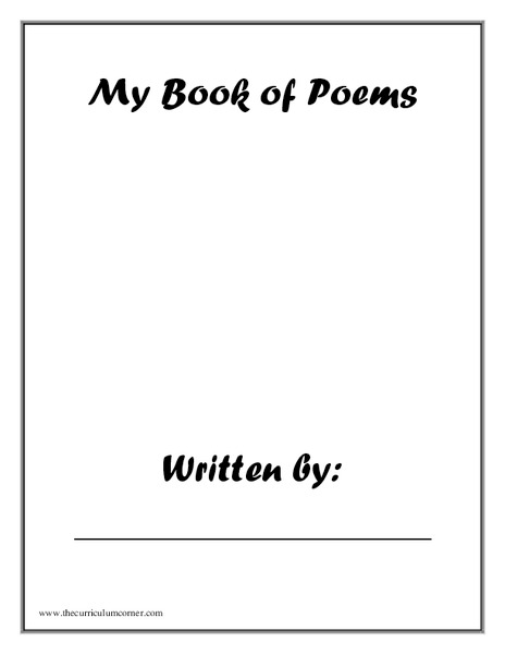 My Book of Poems Worksheet