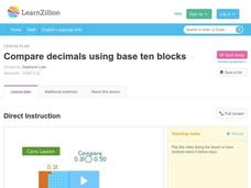Compare Decimals Using Base Ten Blocks Video