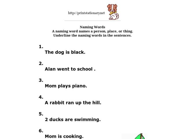 All Worksheets u00bb Naming Words Worksheets For Grade 1 ...