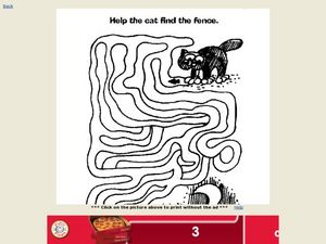 Help the Cat Find the Fence Worksheet
