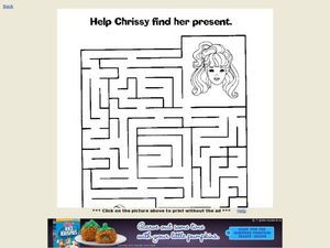 Help Chrissy Find Her Christmas Present Maze Worksheet
