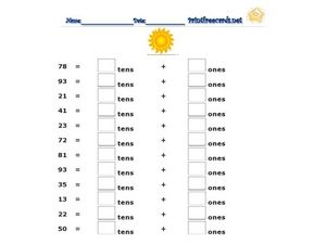 Regroup - Up to 99 Worksheet