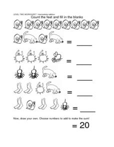 Intermediate Addition Worksheet