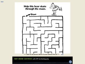 Bear Maze Activity Worksheet