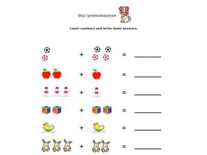 Count Numbers and Write Down Answers Worksheet