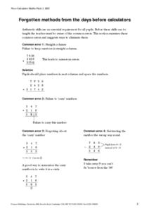 Non-Calculator Maths Pack Worksheet