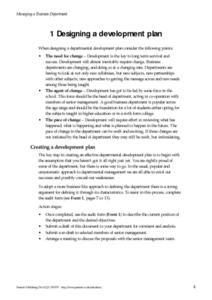 Developing a Development Plan Worksheet