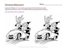Christmas Differences? Worksheet