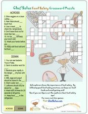 Chef Solus Food Safety Crossword Puzzle Worksheet