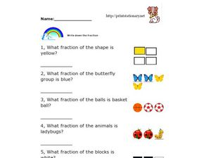 Beginner Fraction Activity Worksheet