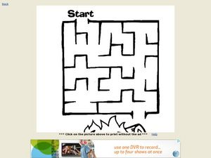 Basic Maze Activity Worksheet