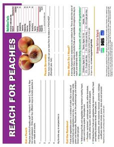 Reach For Peaches Worksheet