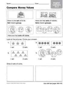 Compare Money Values Worksheet