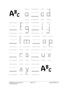ABC's Worksheet