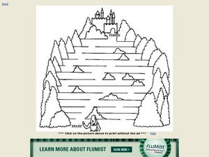 Help the Princess Find Her Way Back to the Castle Worksheet