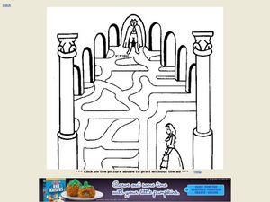 Beauty and the Beast Maze Worksheet