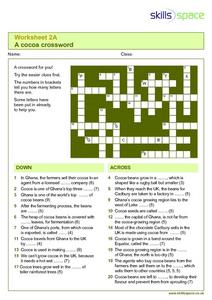 A Cocoa Crossword Worksheet