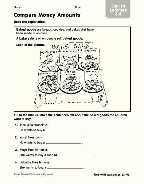compare money amounts worksheet for 2nd 4th grade lesson planet. Black Bedroom Furniture Sets. Home Design Ideas
