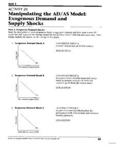 Economics Supply Demand Lesson Plans & Worksheets