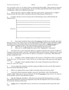 Honors Chemistry I Lesson Plan