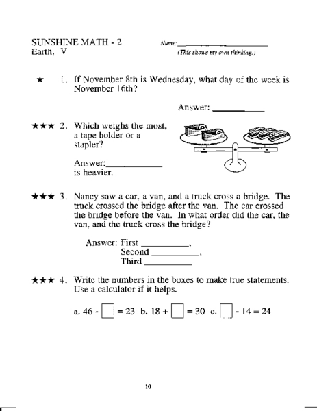Grade 2 Mixed Math Practice Worksheet