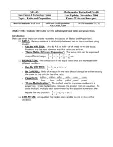 Ratio and Proportion: Write and Interpret Worksheet