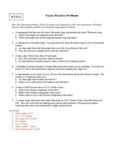 Vector Practice Problems Worksheet