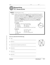 Chords and Arcs Worksheet