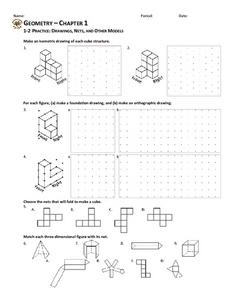 Drawings, Nets, and Other Models Worksheet