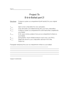 Project 7b: B-b-b-Ballad Part 2! Worksheet