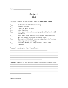 Project 1 ABA Worksheet