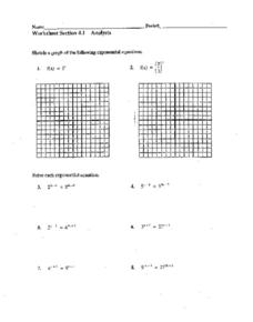 Worksheet: Exponential Equations Worksheet
