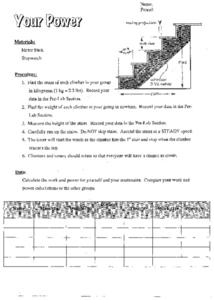 Your Power Worksheet