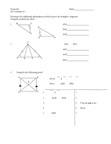 Proving Figures Congruent Worksheet
