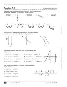 Compositions of Reflections Worksheet