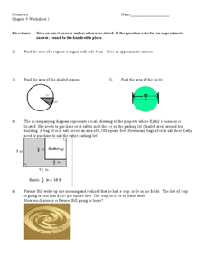Geometric Word Problems Worksheet