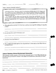 human environment interaction worksheet pdf